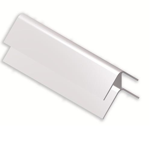 Esquina rincón con zarpa grande Fija 100 mm Plata brillo