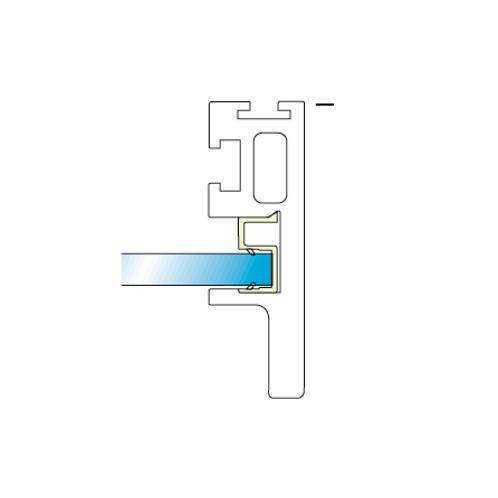"""Sistema SH - Puerta """"Fai da te"""" -Goma perfil tirador puerta en plata mate"""