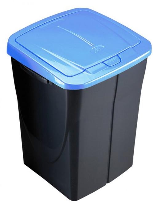 Cubo de basura 45 litros tapa azul