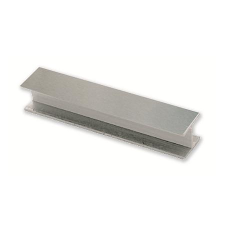 Junta de PVC con lámina de aluminio cepillado 150 mm