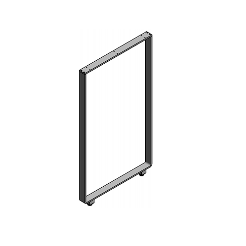 Pata encimera en aluminio 108-110x61 Plata mate