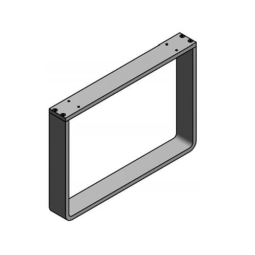 Pata módulo en aluminio H280 Plata mate