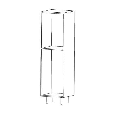 Semicolumna horno H1430xF600xA600 con 2 estantes de cristal