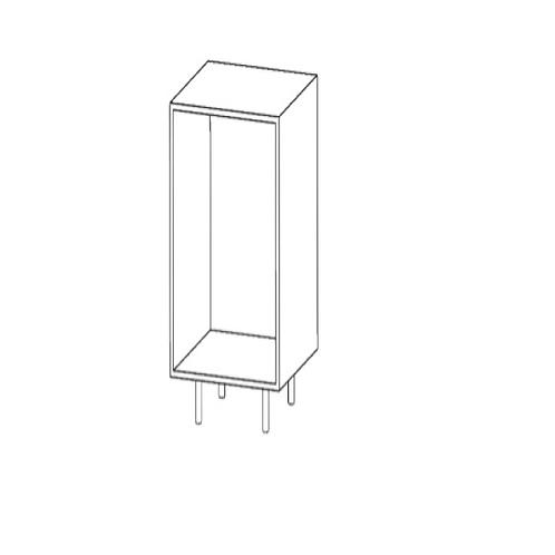 Columna H2210xF600xA500con 6estantes de cristal