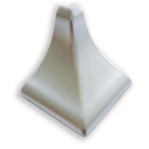 Esquina copete 1/2 caña PVC Plata mate
