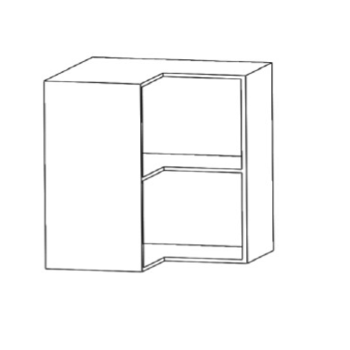 Mueble alto rinconero escuadra H700xF350xA650con 1estante de cristal