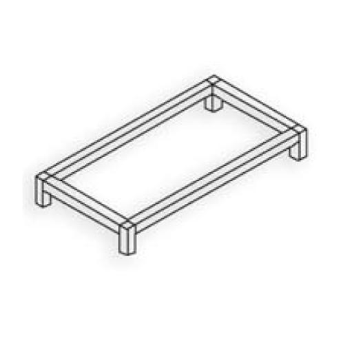 Estructura 30x30 Plata mate Tipo 2