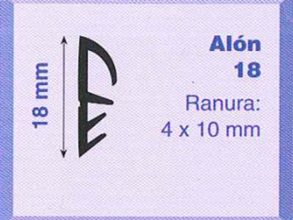 P.V.C. ALON 18 Marrón