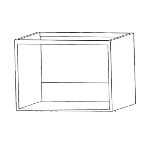 Mueble baño colgado pared H450xF430xA800 Blanco