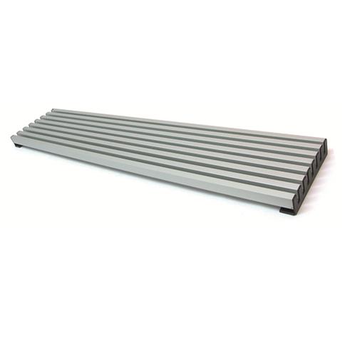 Rejilla 8 varillas aluminio Negra M-60