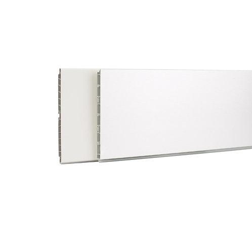Zócalo PVC con lámina de aluminio cepillado 100 mm