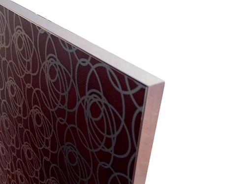 Vitrina 19x20x7 43C401 con cristal serigrafía 898x448 Plata mate