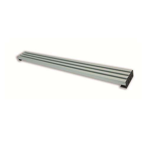 Rejilla 4varillas aluminio plata mate M-60