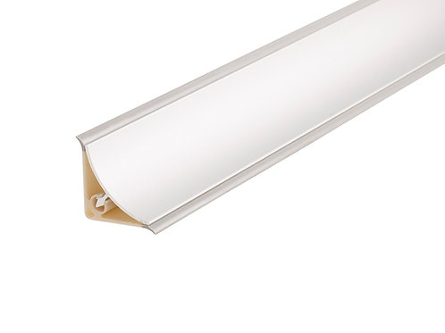 Copete cóncavo 1/2 caña aluminio Plata brillo