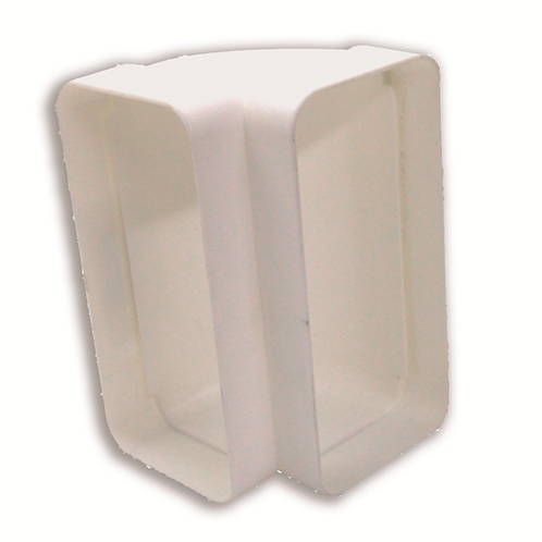 Codo rectangular 150 x 75 Blanco