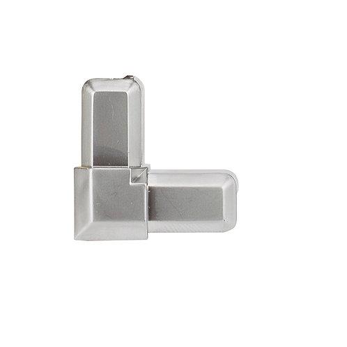 Esquina vitrina para perfil adhesivo plata mate