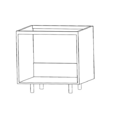 Mueble bajo fregaderoH780xF600xA800sinestante de cristal