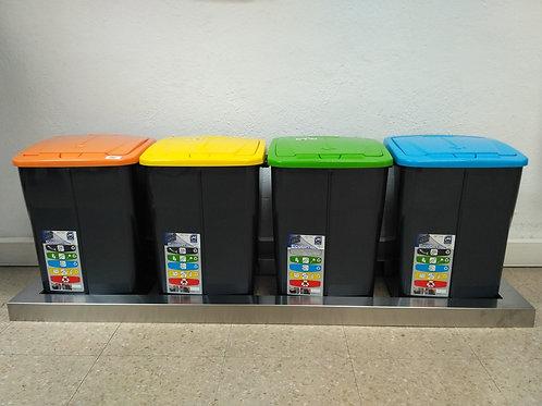 Base inox para conjunto de 4 cubos
