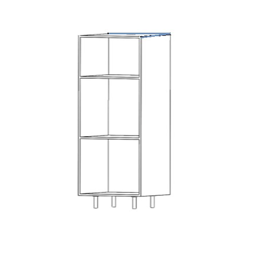 Columna horno H2080xF600xA600 con 3 estantes de cristal