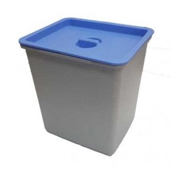 Cubo de basura 16 litros tapa azul para bandeja