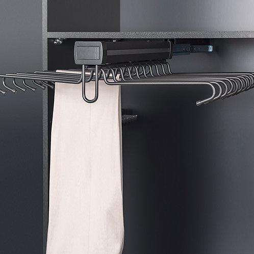 Pantalonero telescópico antracita aluminio - doble