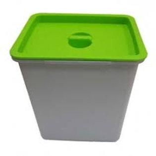 Cubo de basura 16 litros tapa verde para bandeja