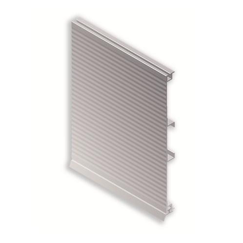 Zócalo aluminio ondulado con zarpa grande 100mm Plata mate