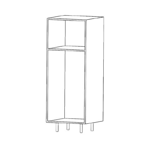Semicolumna microondas H1430xF600xA500sin estantes de cristal