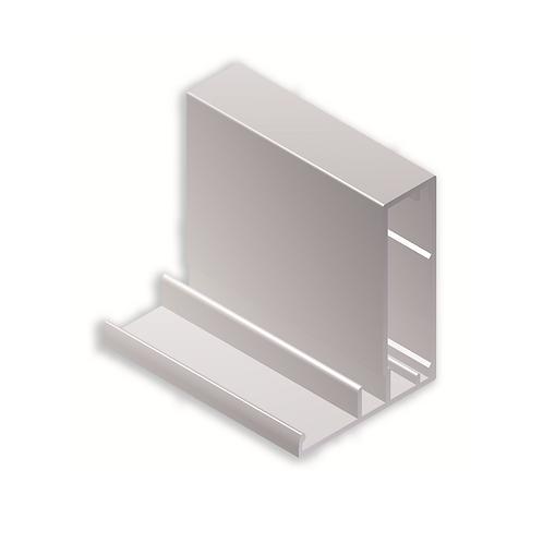 Perfil vitrina 45x35 Tirador43C411Plata brillo 3metros