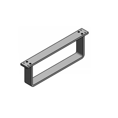 Pata módulo en aluminio H150 Plata mate