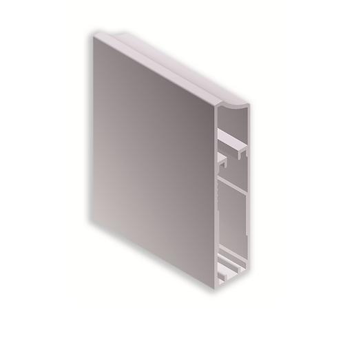 Perfil vitrina 66x15ref 43C416Plata brillo 3metros
