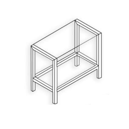 Estructura 50x50 Plata mate Tipo 3