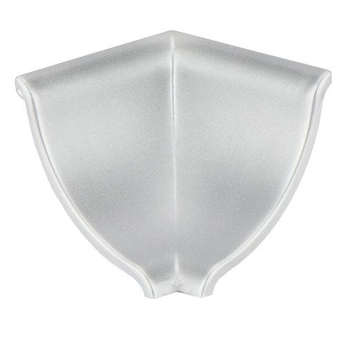 Rincón copete 1/2 caña PVC Plata mate