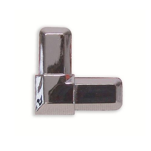 Esquina vitrina para perfil adhesivo Negra
