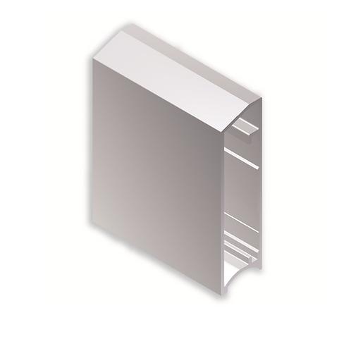 Perfil vitrina 59x16Dakarref 43C429 Blanco brillo 3,25 metros