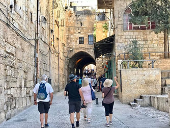 day 10 coming into Lion Gate and Antonia House before via dolorosa.jpg
