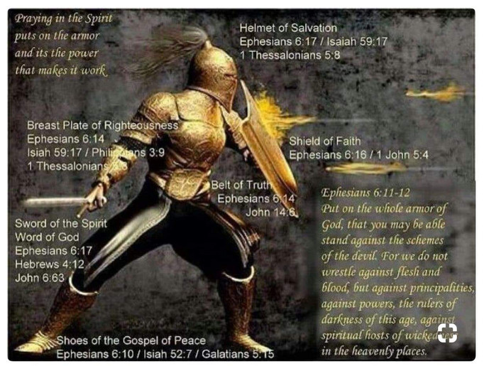 Warning: We are called to Continually wear our armor!