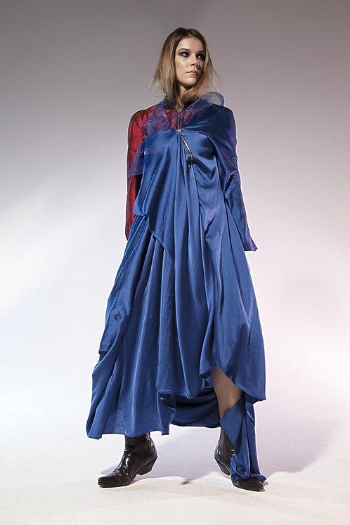 Gold Zip Silk Gown