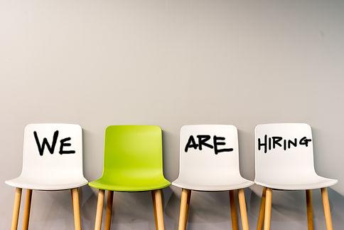 Job recruiting advertisement represented