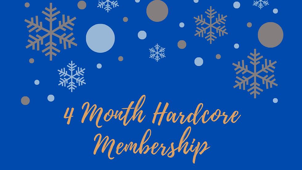 4 Month Hardcore Membership