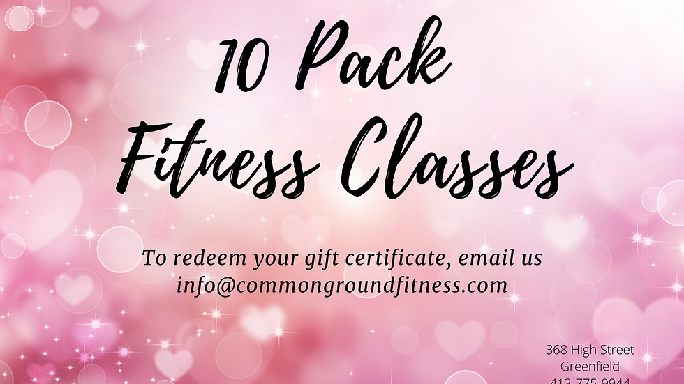 10 Pack Fitness Classes
