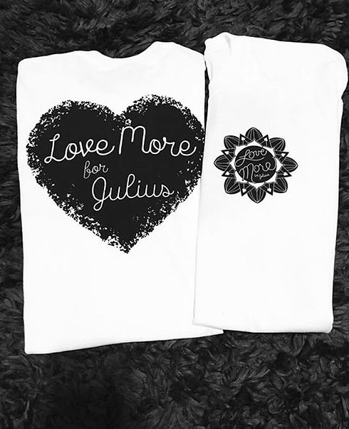 We LOVE this picture of our t shirts! Send us photos of you sporting your love more tees! #lovemore
