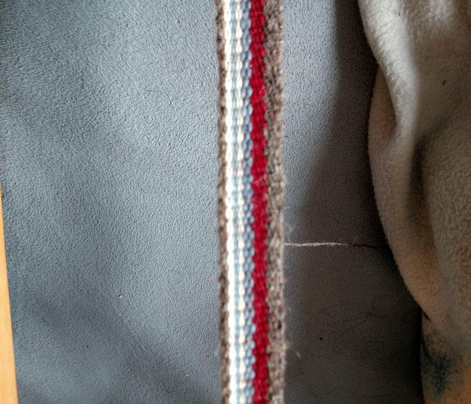 Inkle-loom woven tape for sleeve and breeches cuffs