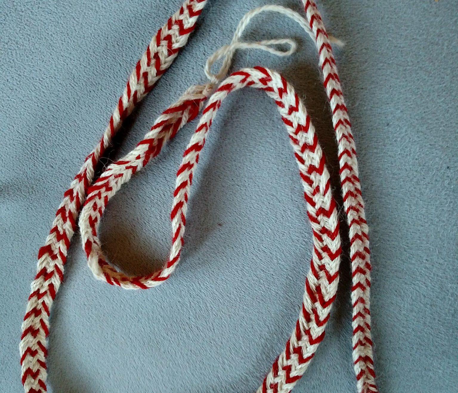 12-strand braid for breeches drawstring