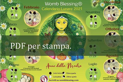 Italiano Womb Blessing Calendario Lunare 2021 pdf per stampa