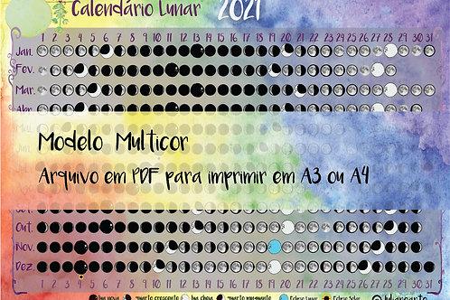 Calendário Lunar em pdf to  PRINT (arco-íris)