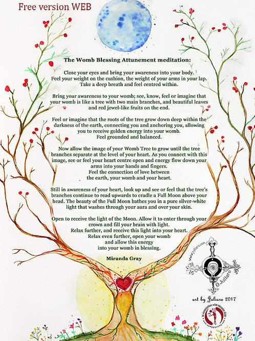 PDF Womb Blessing Meditation ilustrated