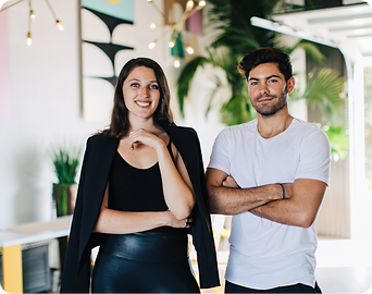 Vizer Co-Founders Samantha Pantazopoulos and Dylan Barbour