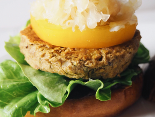 Greek Chickpea Fava Burgers