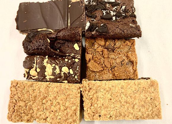 Create your own mixed box of flapjacks and brownies